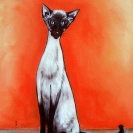Mary Smith Artwork Simply Siamese, 2010 Other Printmaking, Animals