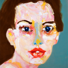 Neal Turner: 'Anne Hathaway', 2011 Oil Painting, Famous People. Artist Description:   Oil on canvas, 15 by 18 inches A(c) 2011 Neal Turner  ...