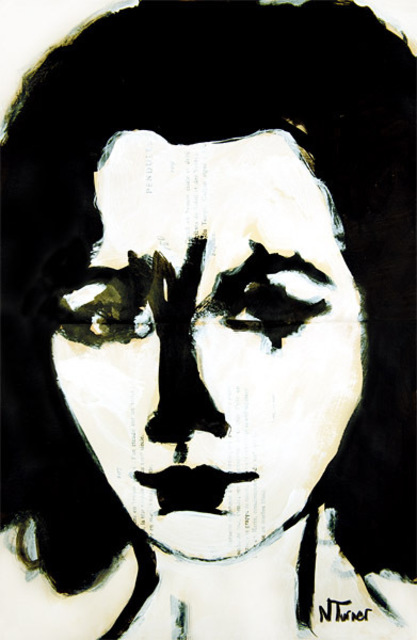 Neal Turner  'Elizabeth Taylor', created in 2011, Original Painting Ink.
