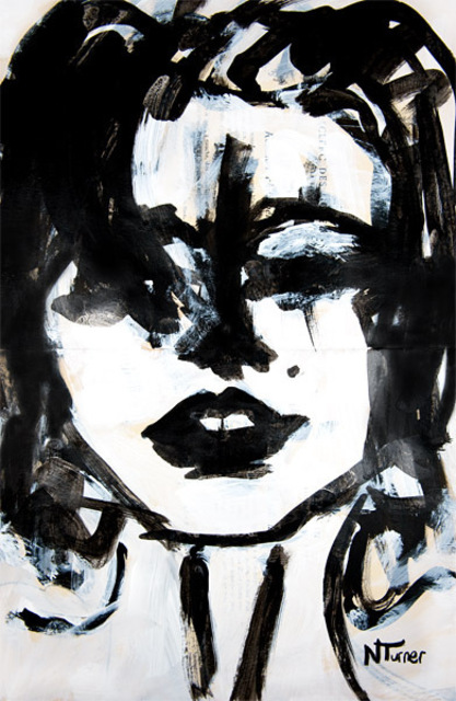 Neal Turner  'Marilyn Monroe', created in 2011, Original Painting Ink.