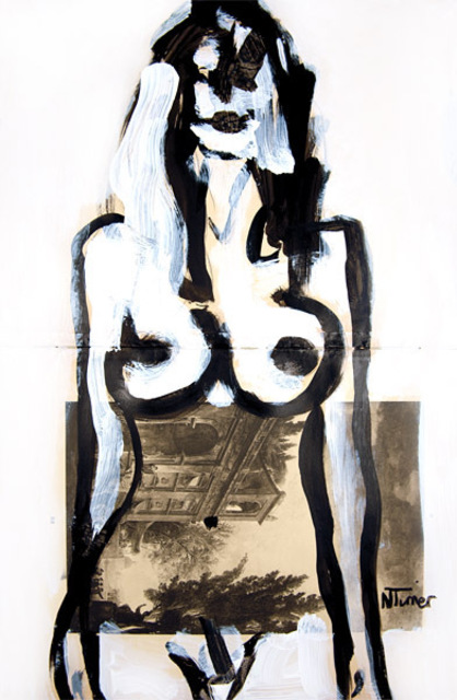 Neal Turner  'Sarah M', created in 2011, Original Painting Ink.