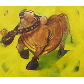 Tushar Jadhav Artwork Rhythm, 2016 Acrylic Painting, Animals