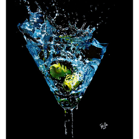 Tylor Adair: 'Wet', 2016 Acrylic Painting, Still Life. Artist Description:  Bring a splash to any room with the Elegant appearance of a dry martini...
