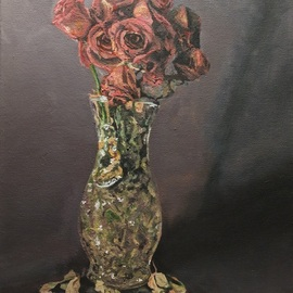 Tylor Adair: 'the wilted', 2017 Acrylic Painting, Floral. Artist Description: Being invited into an art exhibition just weeks before the deadline I scrabbled to create something new to present. This motif was created based on some wilting flowers that had been over due for being discarded. They were still so beautiful. I needed to do something to keep ...
