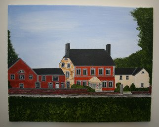 Landscape Acrylic Painting by John Odriscoll Title: my sons home, created in 2007
