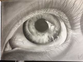 Tyrone Webber: 'the eye see all', 2018 Graphite Drawing, Surrealism. Artist Description: graphite artwork on A2 size heavyweight paper...
