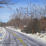 m highway south with snow By Scott Mackay