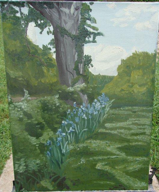 Scott Mackay  'Tree And Irises', created in 2013, Original Painting Oil.