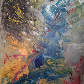 Susan Cantor-uccelleti Artwork Its A Blast, 2014 Acrylic Painting, Abstract
