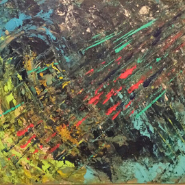 Susan Cantor-uccelleti Artwork Meteor Shower, 2014 Acrylic Painting, Abstract