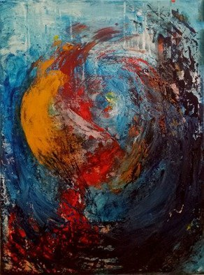 Susan Cantor-uccelleti: 'Out of Orbit', 2016 Acrylic Painting, Abstract. Textured painting with lots of movement and color. Will brighten any room. Original painting with no copies made. Signed and dated on the back. ...