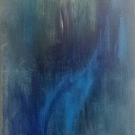 Susan Cantor-uccelleti Artwork blue melody, 2017 Acrylic Painting, Abstract