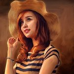 beautiful woman painting By Faruki Vackoth