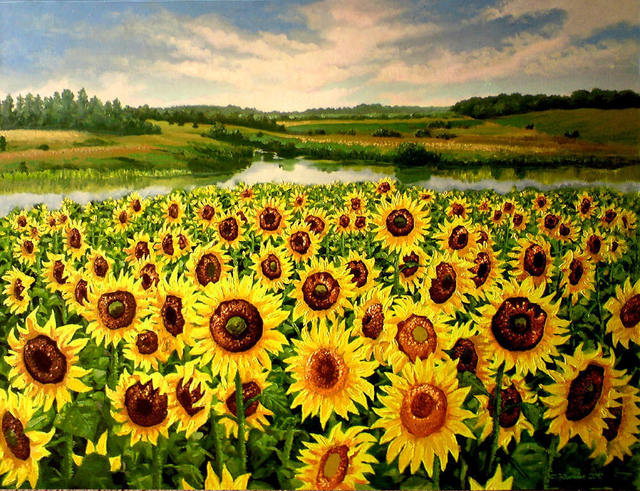 Sergey Puzirchenko Sunflowers 2011