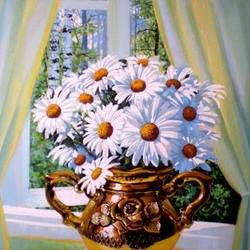 , Flowers Of Camomile, Floral, $2,100