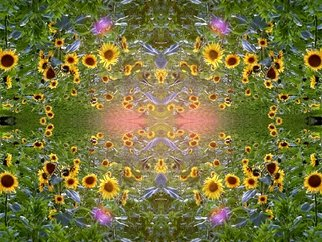 Ulrich Gerhard Osterloh Artwork Sunflowers, 2016 Digital Art, Floral