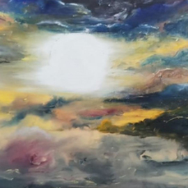 Uma Singh: 'illusions', 2017 Oil Painting, Sky. Artist Description: Painting, Oil Coloron CanvasBiafarin Artwork Code: AW127733758As said   there is sunrise and sunset every single day - and they are absolutely free - . It is for a mind to enjoy the spectacular canvas nature paints - and live the illusions it offers .This is oil colors used over ...