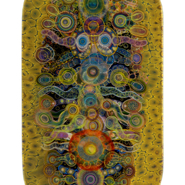 Bruce Riley Artwork Chakra Shield, 2013 Mixed Media, Abstract