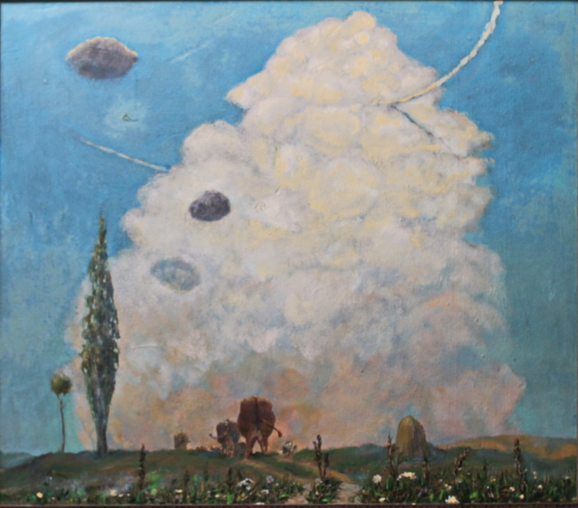 Leo Karnaukhov  'К вечеру', created in 1976, Original Painting Oil.