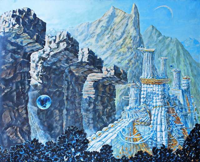Leo Karnaukhov  'China Valley Dreams', created in 2012, Original Painting Oil.