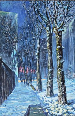 Leo Karnaukhov: 'februar', 2003 Other, Trees. Artist Description: night paysage...