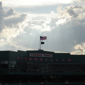 Justin Arcure Artwork Heaven Shining on the Ballpark, 2009 Color Photograph, Sports