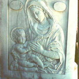 Depasquale Sculptures Artwork Madonna and Child, 1991 Stone Sculpture, Religious
