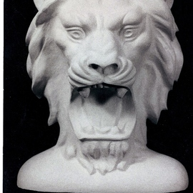 Depasquale Sculptures Artwork The Lion, 1998 Stone Sculpture, Animals