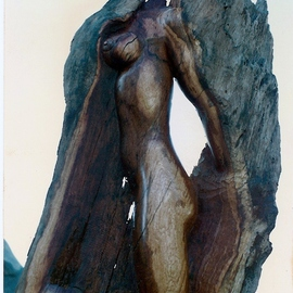 Depasquale Sculptures: 'Walk This Way', 2011 Wood Sculpture, Figurative. Artist Description:               Signed original by dePasquale, accompanied with Certificate of Authenticity. Also includes professional packaging and insurance. This sculpture captures a woman evolving from a tree. . . There was an undulation where the knee is. . . that provoked the figures existence. Carved from a piece of Big Bear lake California, oak wood. ...