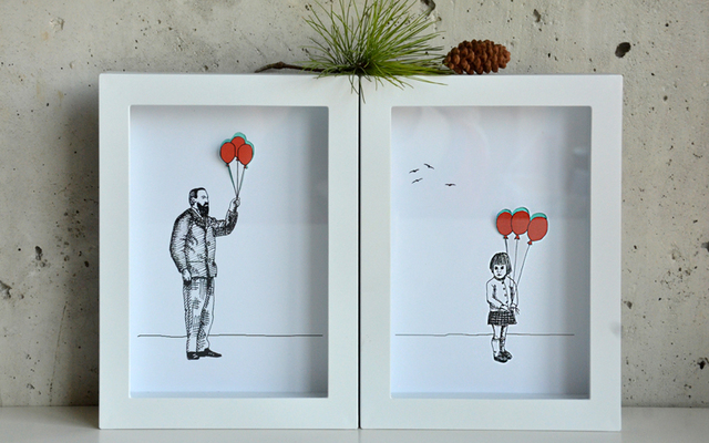 Aleksandar Janicijevic girl and grandfather with balloons 2014