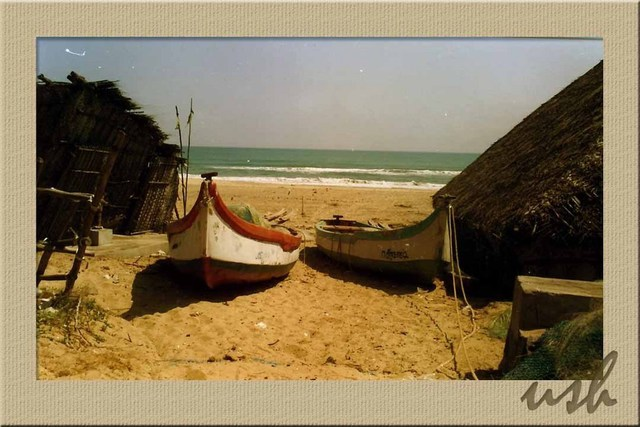 Ush Hazra  'The Beach Boats', created in 2009, Original Photography Other.