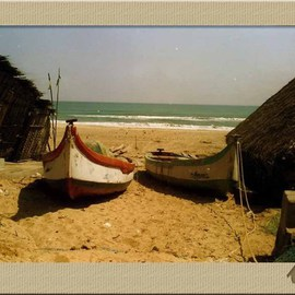 Ush Hazra: 'the beach boats', 2009 Color Photograph, Boating.