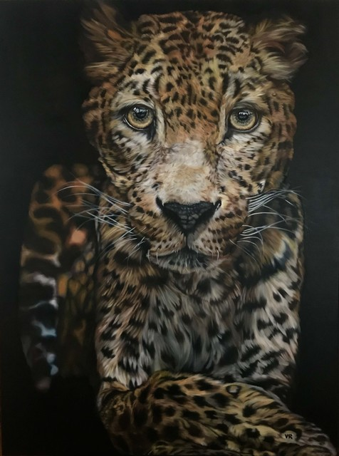 Valentina Andrees  'My Leo', created in 2020, Original Painting Oil.