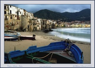 Michael Seewald: 'Boats on shore, Cefalu, Sicily, Italy, 2006', 2006 Color Photograph, Seascape.  Original photograph, signed and limited edition, in the following sizes.  11x14