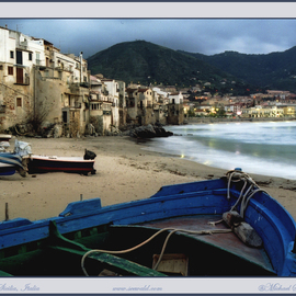 Boats on shore, Cefalu, Sicily, Italy, 2006