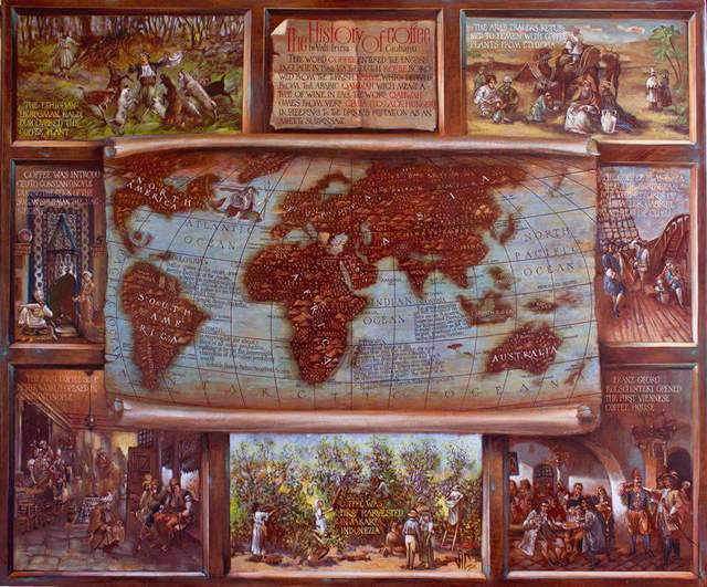 Vali Irina Ciobanu The history of coffee map  2016