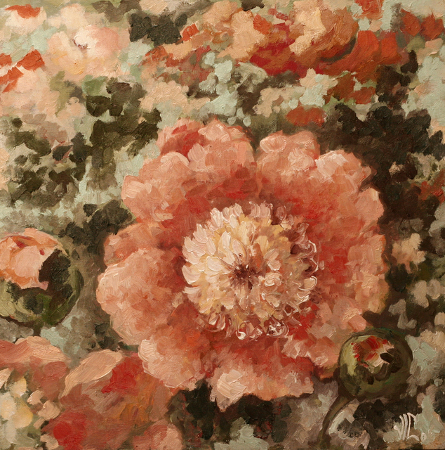 Vali Irina Ciobanu  'Flowers', created in 2011, Original Painting Oil.