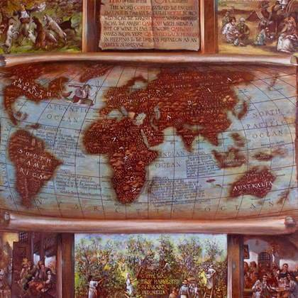 , The History Of Coffee Map, Maps, $7,140