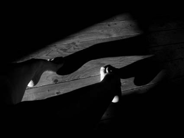 Artist Vanessa Knijn. 'Shadow Ballet' Artwork Image, Created in 2004, Original Photography Black and White. #art #artist