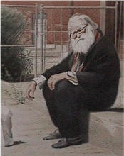 - artwork Wiseman_in_Old_Pueblo-1029694082.jpg - 2002, Watercolor, Figurative