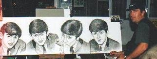 Giovan Beck  'Beatles', created in 1999, Original Printmaking Etching - Open Edition.