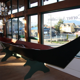 Daniel Holtendorp Artwork Wolf Whale Canoe, 2014 Wood Sculpture, Life