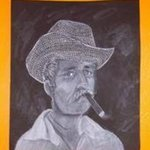 Cuban Man with Cigar By Kelly Doman