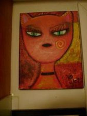 Cats Acrylic Painting by Kelly Doman Title: Sassy Kitty, created in 2007