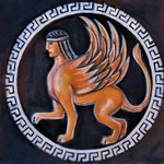 greek plate sphinx By Varvara Vitkovska