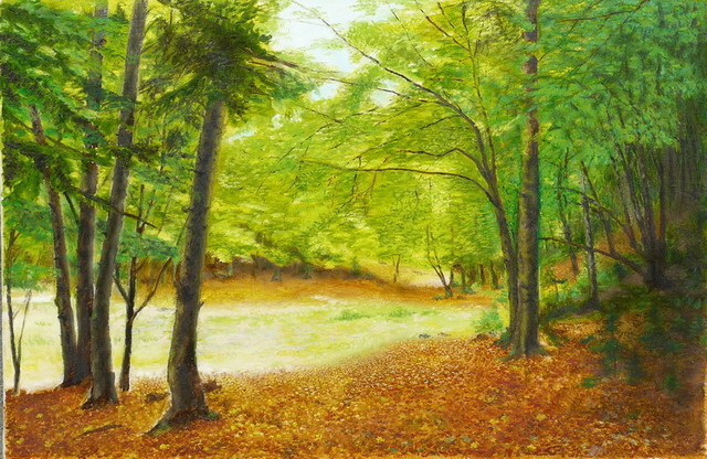 Vasily Zolottsev  'Autumn In Caucasus', created in 2007, Original Crafts.