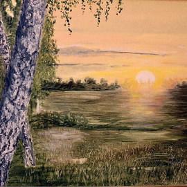 Sunrise on a boggy meadow  An etude