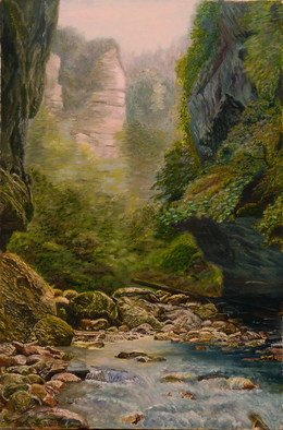 Painting by Vasily Zolottsev titled: The canyon, created in 2009
