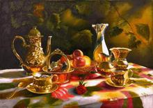 - artwork The_memories_Tea_together-1359134395.jpg - 2010, Painting Oil, Still Life