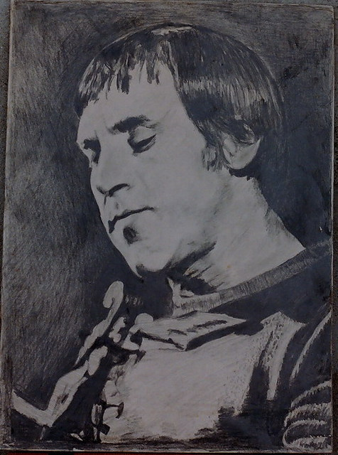Vasily Zolottsev  'The Portrait Of V Vysotsky', created in 2002, Original Crafts.
